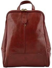 2bf622208dead Zaino Donna In Vera Pelle Colore Rosso - Pelletteria Toscana Made In Italy  - Zaino