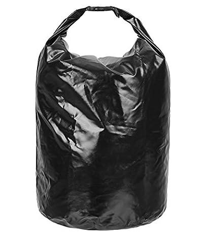 SWISSONA sac fourre-tout en PVC, 100% étanche, robuste & durable, 38 litres, en noir   avec 2 ans de garantie satisfaction   sac de rangement, sac de conservation, outdoor dry bag, dry sac