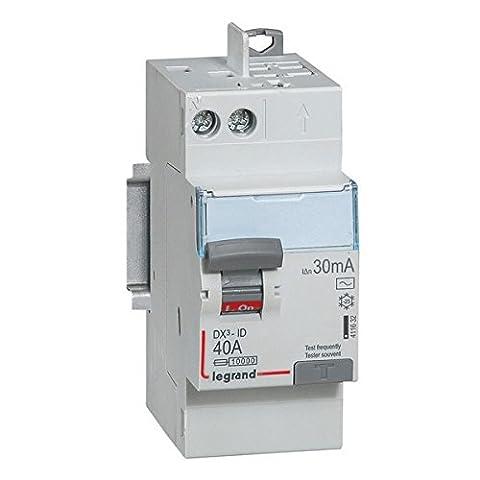 interrupteur différentiel legrand dx3 40a 30ma 2 poles type ac