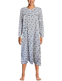 i-Smalls Ladies Nightwear 100% Cotton Long Sleeve Nightdress ede728d69