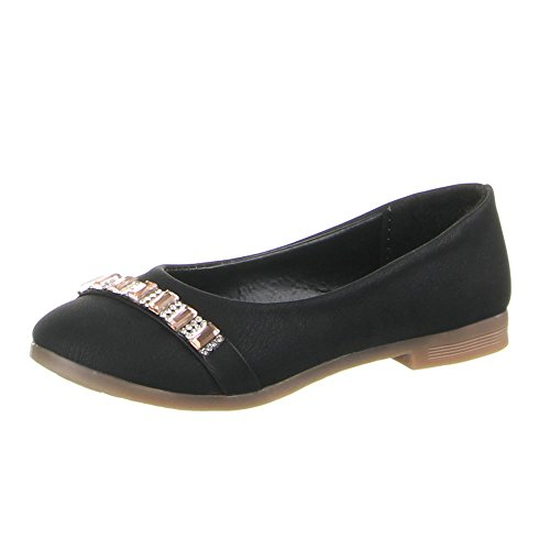Kinder Schuhe, B-13-1, BALLERINAS Schwarz