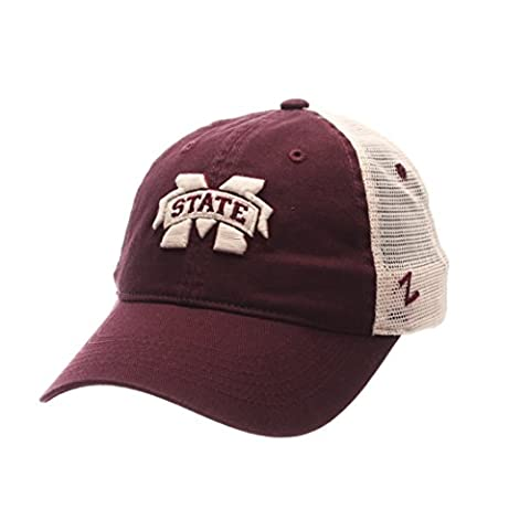 NCAA Mississippi State Bulldogs Adult Men University Relaxed Cap, Adjustable, Team Color/Stone