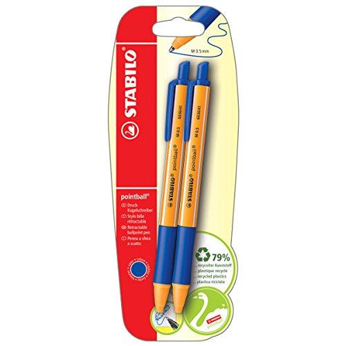 Kugelschreiber - STABILO pointball - 2er Pack - blau