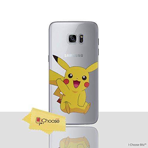 Galaxy S7 Edge Pokemon Estuche de Silicona / Pikachu Cubierta de Gel para Samsung Galaxy S7 Edge (S7 Edge/G935) Protector de Pantalla y Tela / iCHOOSE