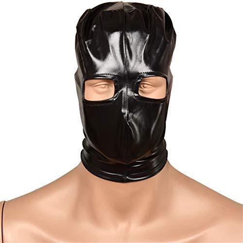 Breathable Hoods Face, Bondage Mask Head Hood Schwarze Augenbinde Kopfmaske Spandex Kostüm Hood Mask für Damen und ()