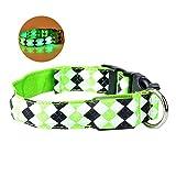 HuhuswwBin LED-Hundehalsband, Geometrisches LED-Licht, für Sicherheit bei Nacht, verstellbar, für Hunde und Welpen