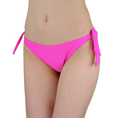 Aquarti Damen Bikinihose seitlich zum Binden Bikini Hüftslip Pink