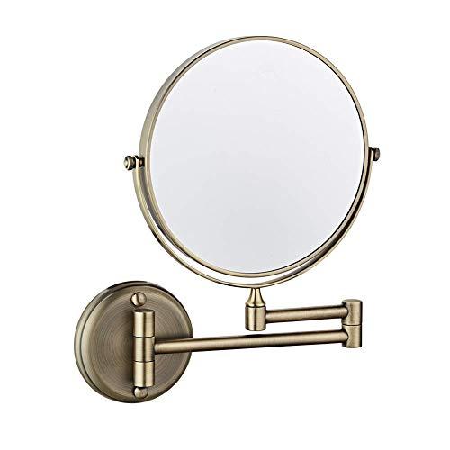 Makeup Mirror Doppelt Seite Spiegel Wandmontage 8 Zoll/20cm 360 ° schwenken Erweitern Falten 3X Vergrößerung Bad Schönheit Bilden Spiegel Wenaqin,D - Erweitern Bad-spiegel