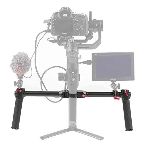 Sutefoto Dual Handle Grip Extended Handheld Kit Accessori per Manubri per DJI Ronin S/Ronin SC/Moza air 2 Cardanico