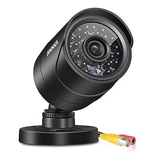ANNKE 900TVL Hi-Resolution Home Security Camera System, IP66 Weatherproof Video Surveillance Camera, 100ft 30m Super Night Vision CCTV Bullet Camera