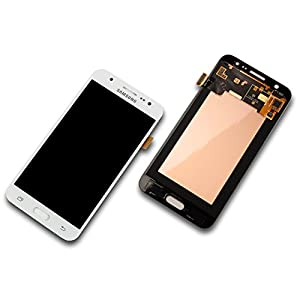 Samsung J500 F Galaxy J5 LCD Touch Screen Display Glas Front Weiß Original Neu mit Service Pack