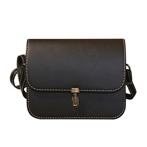 Smrbeauty borse a tracolla, crossbody borse donna ragazza, borsetta tracolla piccole con catena bag in pu pelle, cartella in pelle borsetta da viaggio mini borsa (nero)