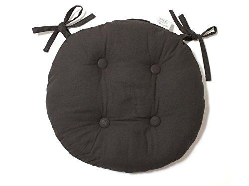 009031soleil d'ocre-panama, cuscino persedia in cotone, imbottito, diametro 40 cm, color_namee: grigio