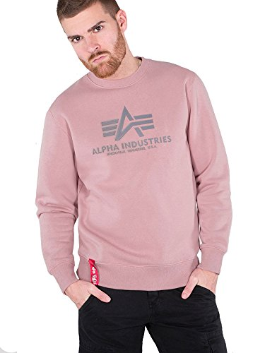 Alpha Industries Basic Sweatshirt Pink/Grau XL Pink Jumper