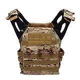 QAQ QP Chaleco Táctico Multifunción Chaleco Oxford Campo Combate Entrenamiento De Supervivencia Montañismo Tiro Autodefensa Equipo De Protección Negro Verde Barro Color Camuflaje,Cpcamouflage