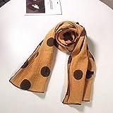 MINMINA Kinderschals Wilde Kinderschals Herbst und Winter Baby Schals Baumwolle und Leinen gedruckt Punkte Jungen und Mädchen Schals, orange