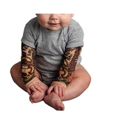 Bekleidung Longra Säugling Neugeborenes geilen Jungen Langarm Spleiß Print Strampler Overall Kleidung (0-24Monate) (80CM 18Monate, Gray) (Baumwoll-shorts Grays)