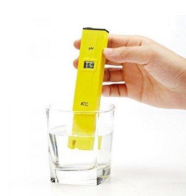Ph Tester Pool (Dr.Meter PH002 High Accuracy Pocket Size pH Meter, LCD 0-14 pH Measurement Range,0.1 Resolution Handheld pH Pen Tester)