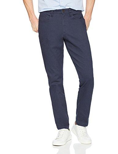 Goodthreads Slim-Fit 5-Pocket Chino Pant Pantalones informales, Azul Marino, 40W / 36L