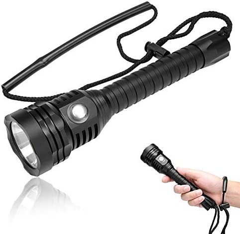 Torcia Subacquea Professionale, 5000 5000 5000 Lumen Super Bright 100m Subacquea Impermeabile LED Torch Scuba Dive Lights Luci sommergibili per Ourdoor Pesca Camping Diving e attività all'aperto B07JKXXKH5 Parent | Aspetto Attraente