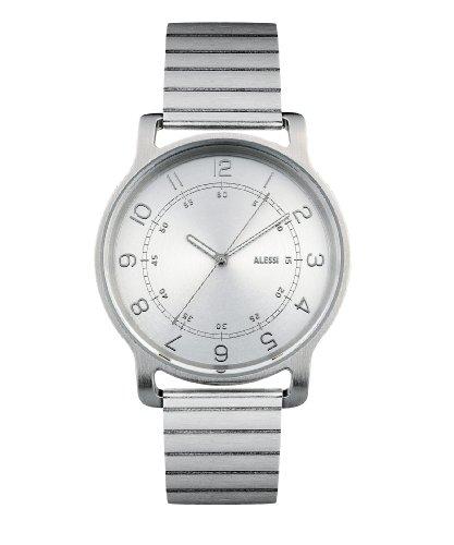 Alessi AL28000 - Orologio da polso, uomo, acciaio inox, colore: grigio