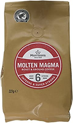 Morrisons Molten Magma Roast and Ground Coffee, 227 g, Pack of 6