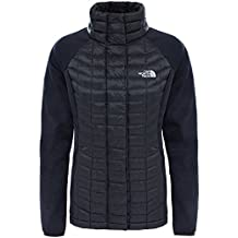 The North Face W Thermoball Hybrid Full Zip Chaqueta con Cremallera, Mujer, Negro (Tnf Black), XS