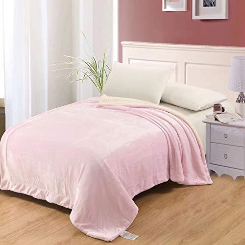 Fleece Wurfdecken Super Soft Fluffy Warm Solid Bed wirft für Sofa Luxus Mikrofaser Decke Rosa König Größe 200 x 230 cm ()