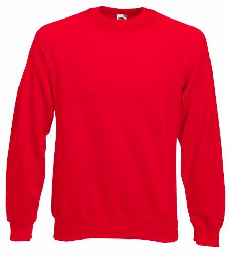 Fruit of the Loom Raglan Sweat Red XL [Kleid] (Top Tank Of Jersey The Loom, Fruit)