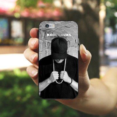 Apple iPhone 7 Hülle Case Handyhülle Kool Savas Fanartikel Merchandise Tot oder Lebendig - Album Artwork Silikon Case schwarz / weiß