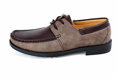 hommes neuve À Enfiler Chaussures Bateau Conduite Moccasin chic décontracté Mocassin Taille 6-12 Café/marron