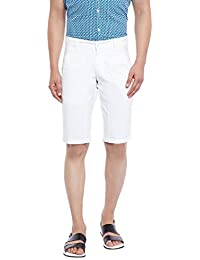 Canary London White Solid Narrow Fit Shorts
