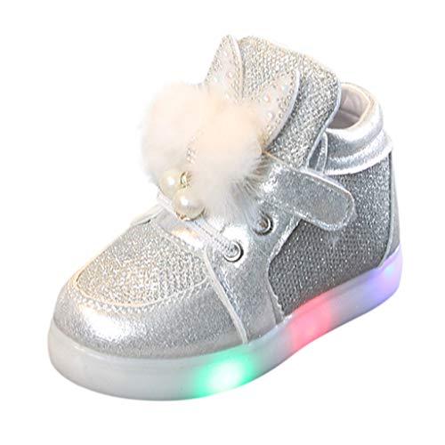c4578a658d7c4 Moonuy Toddler Filles Mode LED Chaussures De Sport Infant Bébé Filles Bande  Dessinée Lapin Lumineuses Baskets