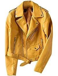 Bikerjacke gelb