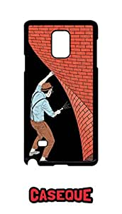 Caseque Secret Back Shell Case Cover For Samsung Galaxy Note 4