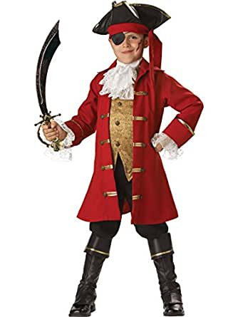 Costumes InCharacter IC7003-S Costume Elite capitaine pirate enfant Taille Petit
