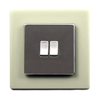 Single Light Switch Surround Acrylic Finger Plate Panel Socket MORE COLOURS – 25% OFF WHEN YOU BUY 2 OR MORE (Ivory)