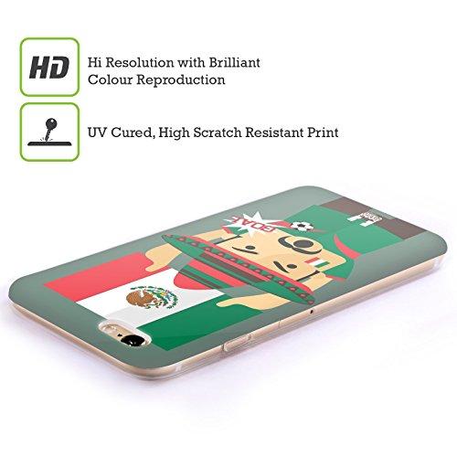 Head Case Designs Nigeria Viva Il Calcio Cover Morbida In Gel Per Apple iPhone 7 / iPhone 8 Messico