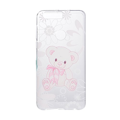 Huawei P9 Cover, CaseLover Custodia per Huawei P9 Bella Stampa Modello Bumper Morbida TPU Silicone Flessibile Sottile Ultra Thin Slim Anti-Scratch Antigraffio Back Cover per Carina Ragazza - I am a cute bear doll / Io sono una bambola simpatico orso / Gift