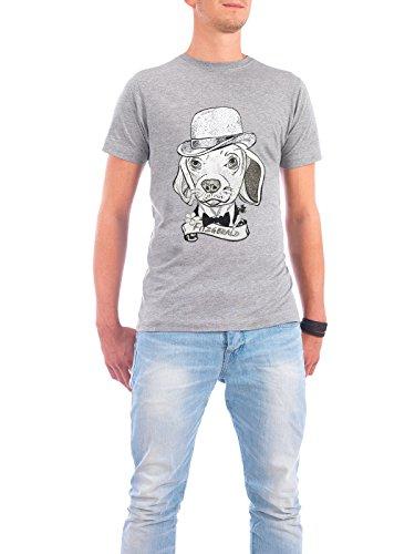 """Design T-Shirt Männer Continental Cotton """"fitz"""" - stylisches Shirt Tiere von Giulio Iurissevich Grau"""