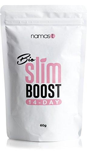28 Tage Bio Slim Boost Tee – perfekte Ergänzung bei Deiner Detox Tee -, Fasten- und Reinigungskur. Loser Kräutertee – Grüner Tee, Mate, Löwenzahn, Brennnessel, u.v.m. – Made in Germany – 100g