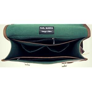 41ZySlpcs8L. SS300  - LA SACOCHE (M) INDUS Bolso Bandolera de Cuero, Estilo Vintage, Color marrón Oscuro PAUL MARIUS Vintage & Retro
