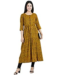 911edc5edcc28 CEE 18 Women's Cotton Rayon A-Line Maternity/Nursing/Easy  Feeding/Breastfeeding/Kurti/Kurta/Dress/with Zippers for PRE…