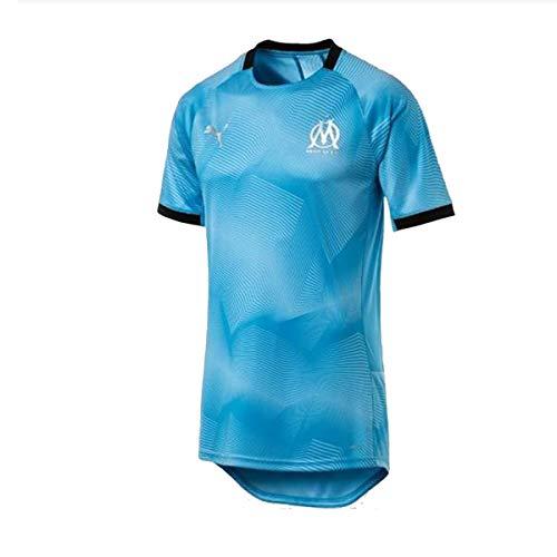 PUMA Olympique de Marseille Graphic Jersey with Sponsor Logo Maillot,  Hombre, Bleu Azur Black b1d071c83130