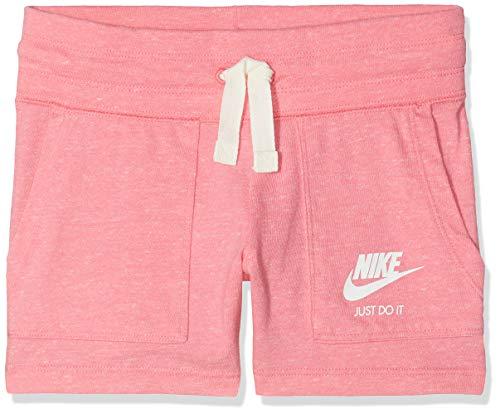 Nike Mädchen Sportswear Vintage Shorts, Pink Nebula/Sail, L - 147-158 cm