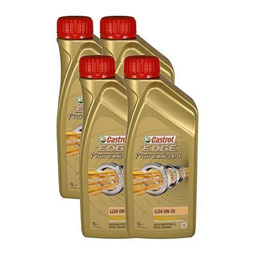 Castrol EDGE Professional Longlife 04 0W30 - Olio per Auto, Lubrificante a Lunga Durata Titanium 0W-30 4 Litri