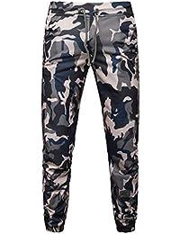 VPASS Pantalones Hombre,Chándal de Hombres Camuflaje Impresión Pantalones Ropa Gym Hombre Casuales Jogging Pantalon