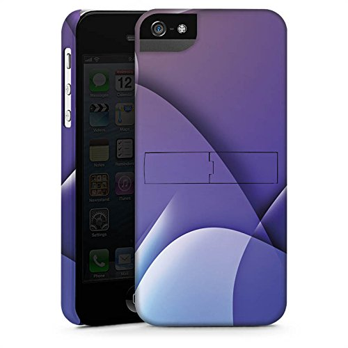Apple iPhone X Silikon Hülle Case Schutzhülle Muster Struktur Lila Premium Case StandUp