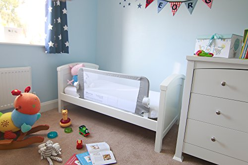 Venture QFix, protector de cama, portátil y plegable, 99x42 cm, color blanco, gris