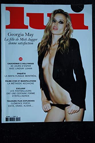 LUI 002 CLEMENCE POESY NUE GEORGIA COVER MAY JAGGER CHARME MARK SEGAL ED ITA BUCHET ZAHM